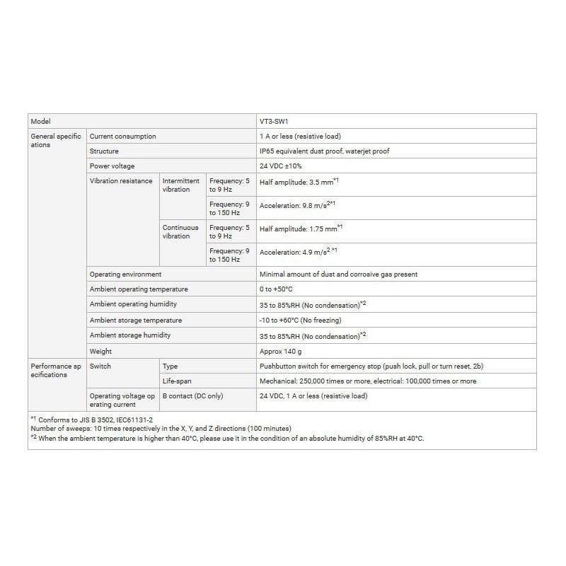 Keyence VT3-V7R panel operatorski + VT3-SW1