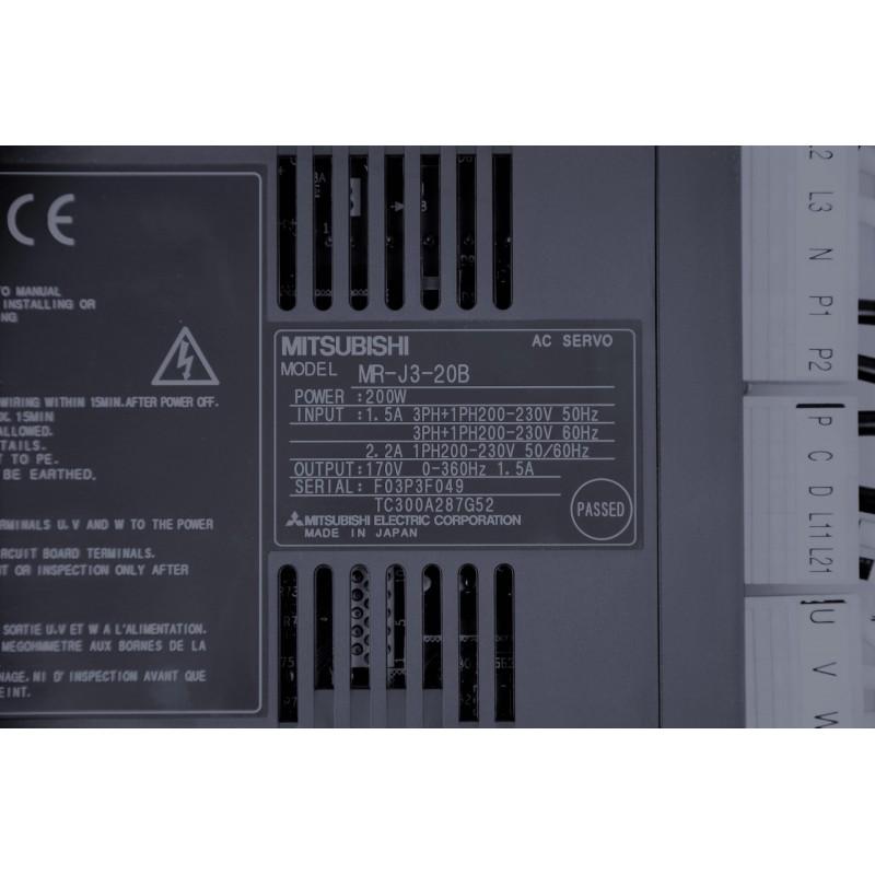Mitsubishi MR-J3-20B servo amplifier