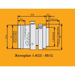 Schneider Xenoplan 1.4/23-0512 23mm Lens (Aperture Adjustment)