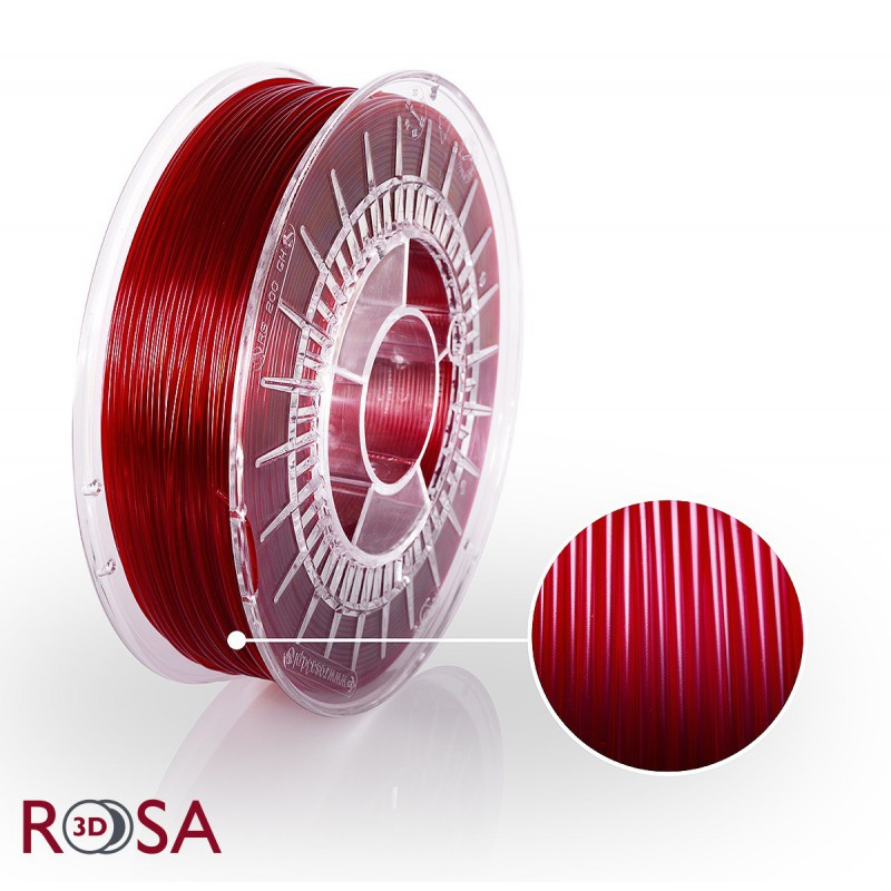 Filament Rosa PET-G Rosa Standard 1,75 mm Red Wine 0,8kg - 1