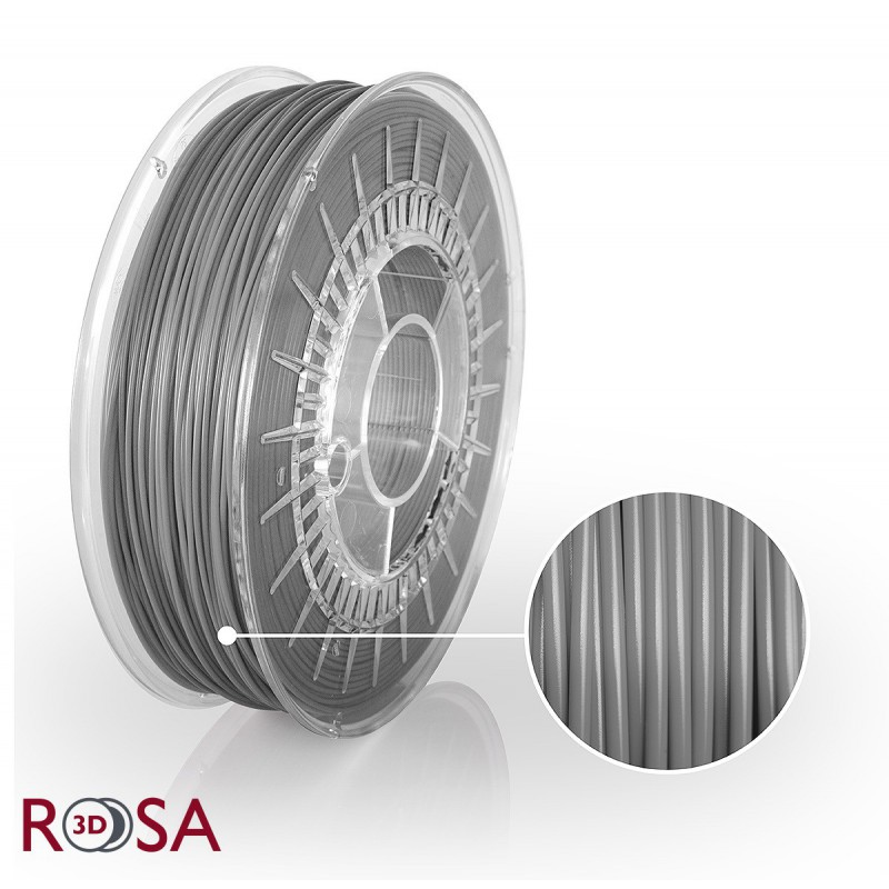 Filament Rosa PET-G Standard 1,75 mm Szary 0,8kg - 1