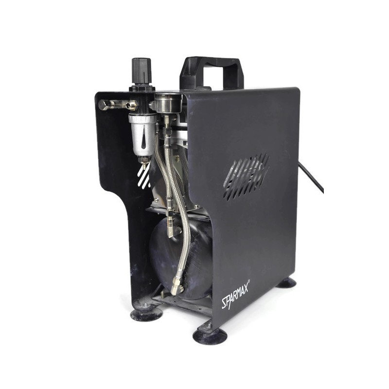 Sparmax TC-610H Plus Compressor + Evolution Airbrush