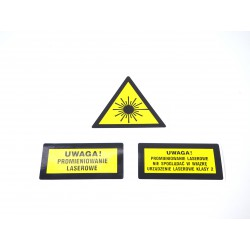 A Set Of Laser Warning Signs