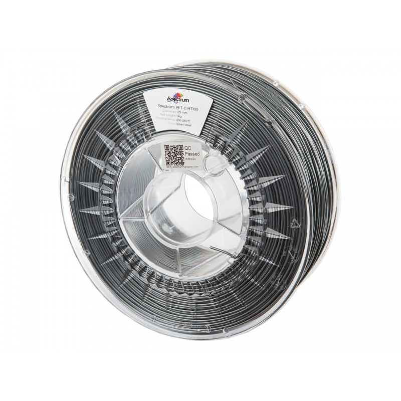 Filament Spectrum PET-G HT100 1.75 mm SILVER STEEL