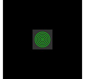 Laser Koncentryczne koła 20mW Laserglow Brightline Premium – Zielony