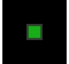 Laser kwadrat - siatka 5mW Laserglow Brightline Premium - Zielony