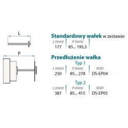 Dźwignia zewnętrzna IP 65 (z wałkiem)