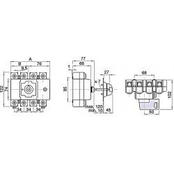 Rozłącznik  160A, 3-biegunowy, TELERGON